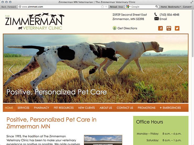 The Zimmerman Veterinary Clinic Located At Www Zimmvet Com Dog