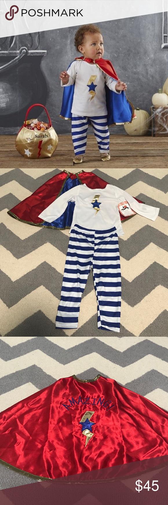 Pottery Barn Kids Baby Superhero Costume 1224M NWT Girl