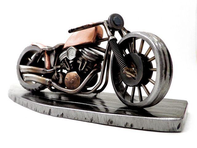 Motorcycle Sculpture Metal Art Welded Motorcycle Sculpture