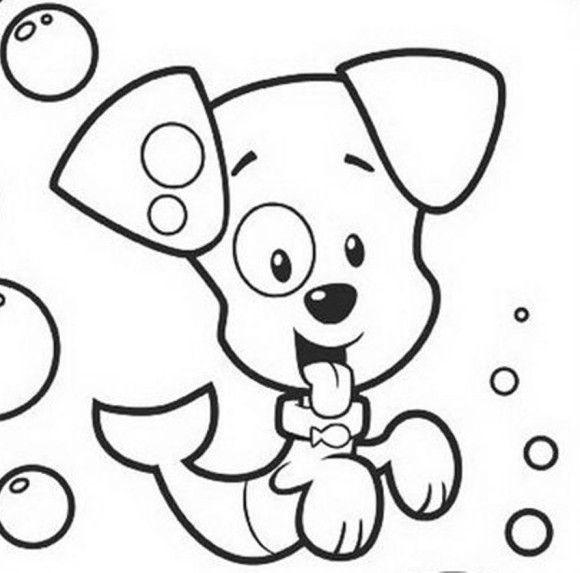 Cartoon Coloring Puppy Bubble Guppies Coloring Pages