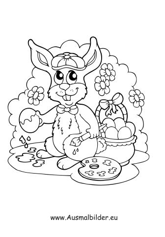 Malvorlage Osterhase Malt Osterei Zum Ausmalen Farben Malstellungen Osterhase Malen Ostereier Ausmalen Ausmalen