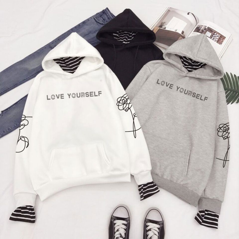 Kpop BTS Bangtan Boys Love Yourself World Tour Hoodie Pullover Sweatshirt Coat