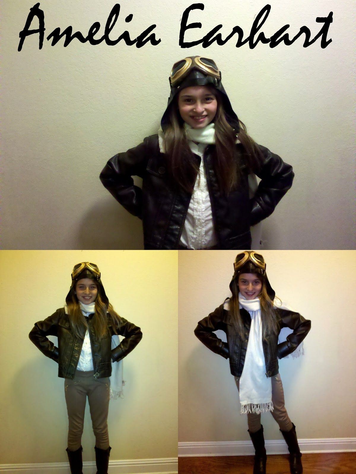 Desert Girls Vintage October 2012 Amelia Earhart Costume Kids Amelia Earhart Costume Famous Women