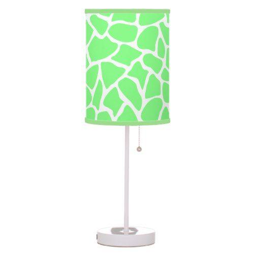 Bright Green Animal Print Giraffe, Giraffe Print Floor Lamp