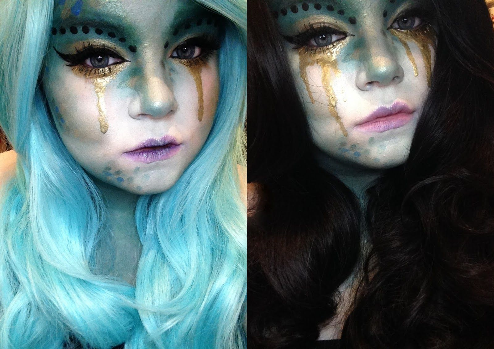 halloween makeup: evil mermaid (she might be loved) | spooky faces
