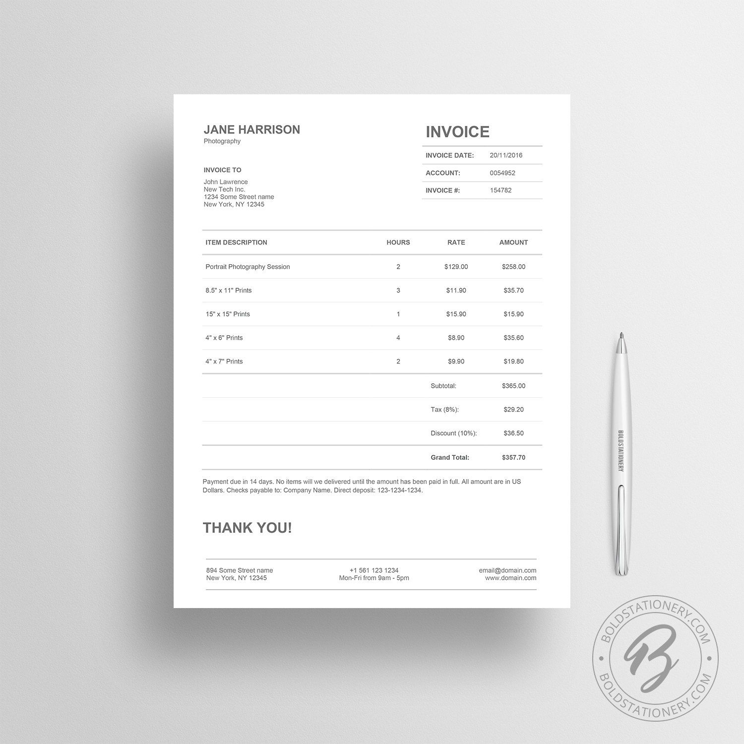 Invoice Template 01 Receipt Template Invoice Template for