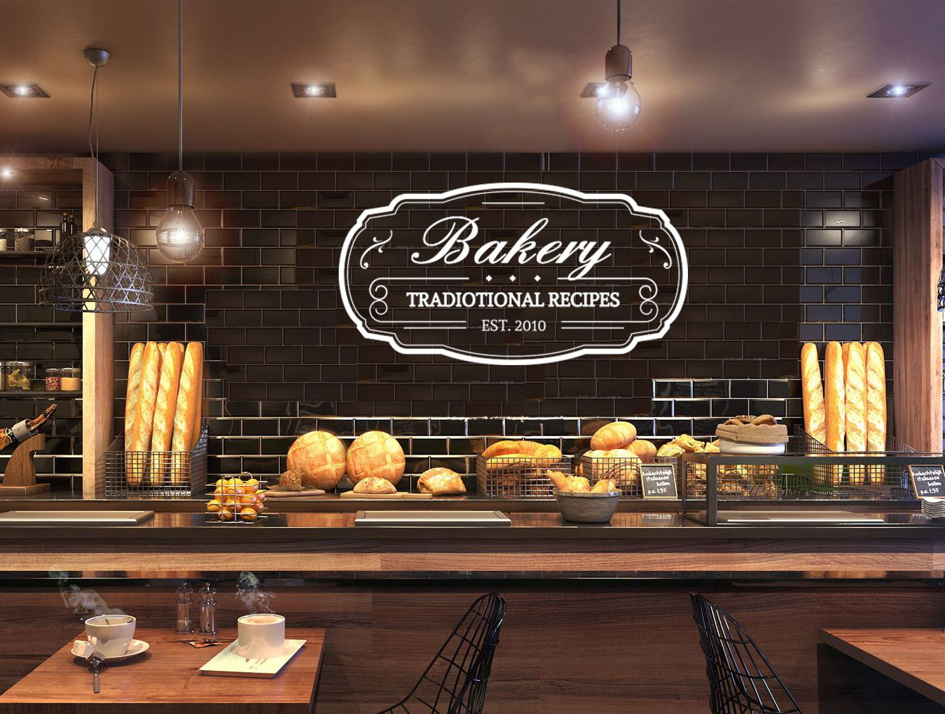 Bakery shop logo write your name bakeshop kitchen cafe vinyl decal home room interior decoration waterproof high quality mural re also rh in pinterest