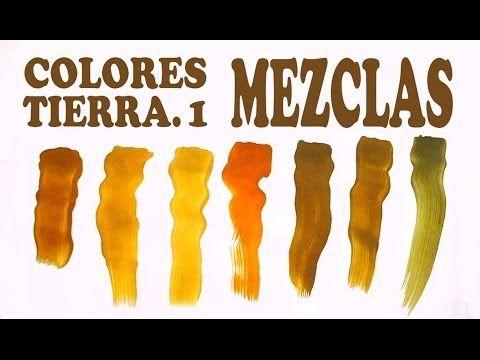 El Marrón Mezclas Exactas Colores Tierra 1 2 Hacer Colores Colores Tierra Como Pintar En Oleo