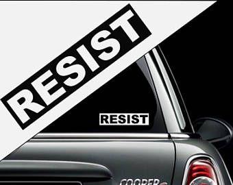 RESIST Decal Bumper Sticker