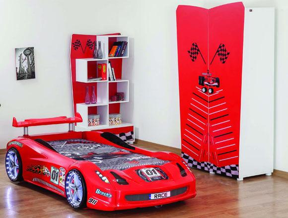 Kinderzimmer Rally II ROT 3tlg. Kostenloser Versand