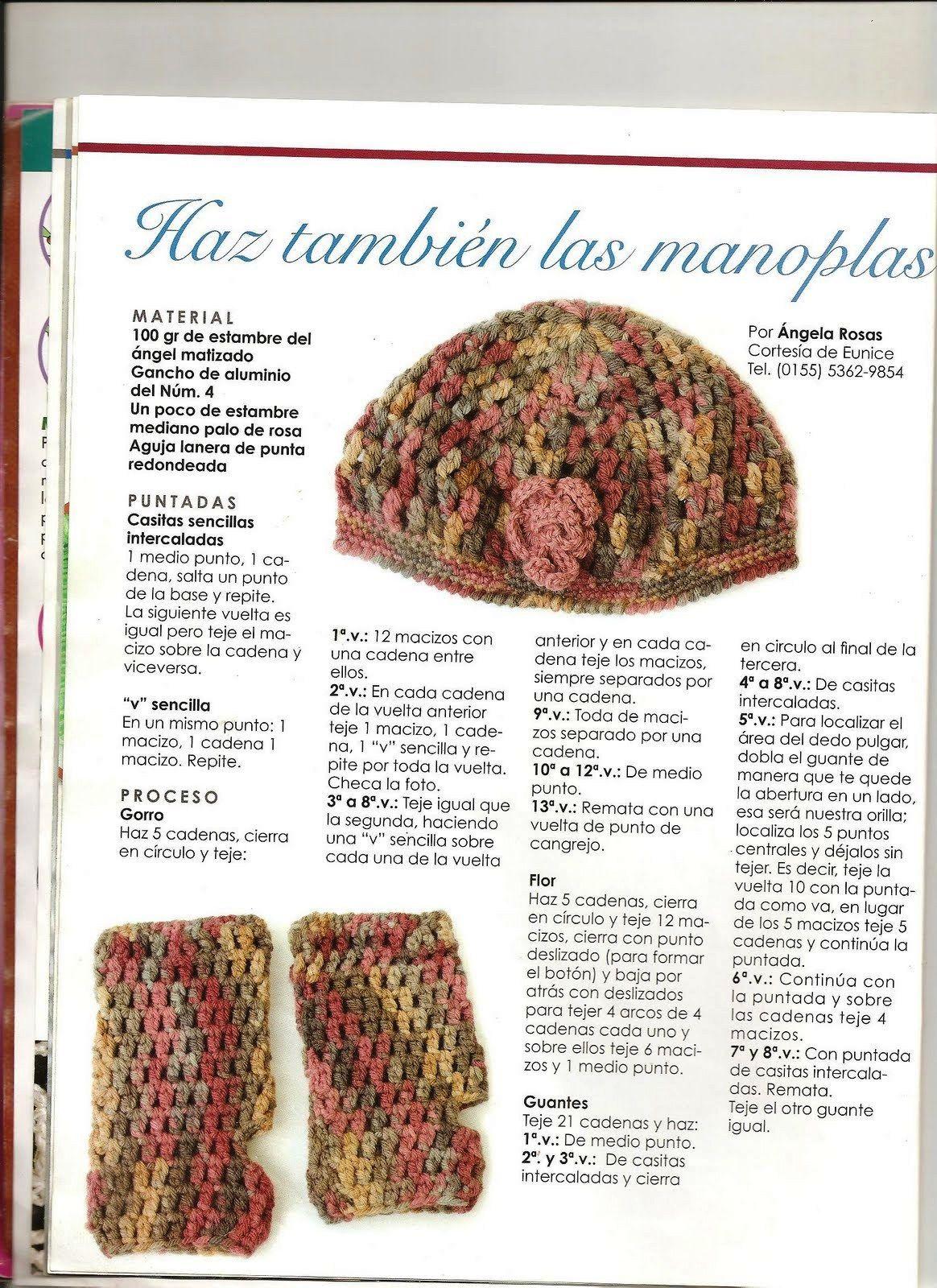 Increíble Patrones De Tejido De Punto Manopla Colección - Ideas de ...