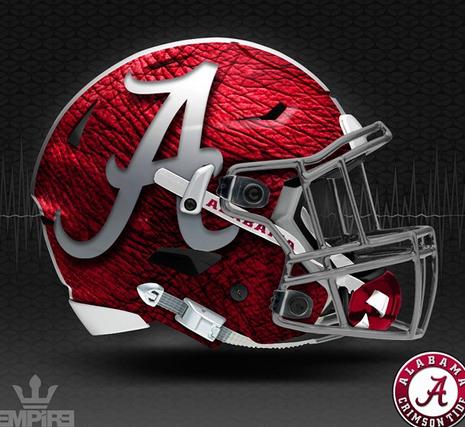 Graphic Designer Drops Alabama Elephant Skin Helmet Concept Alabama Football Helmet Football Helmets Alabama Crimson Tide Logo