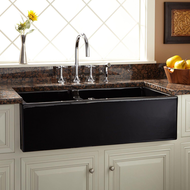 43++ Black farmhouse double sink ideas