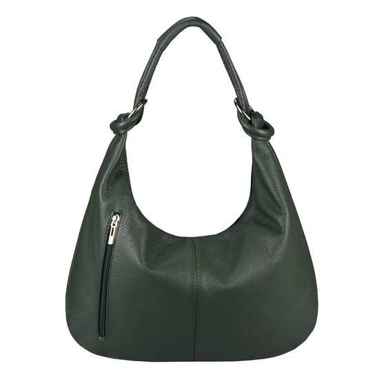 OBC Made in Italy Damen Leder Tote Shopper Schultertasche Schultertasche Bucket Bag Hobo Bag Grüne Handtasche 43x29x10 cm  Neue Mode für Frauen und Herren Tasch...