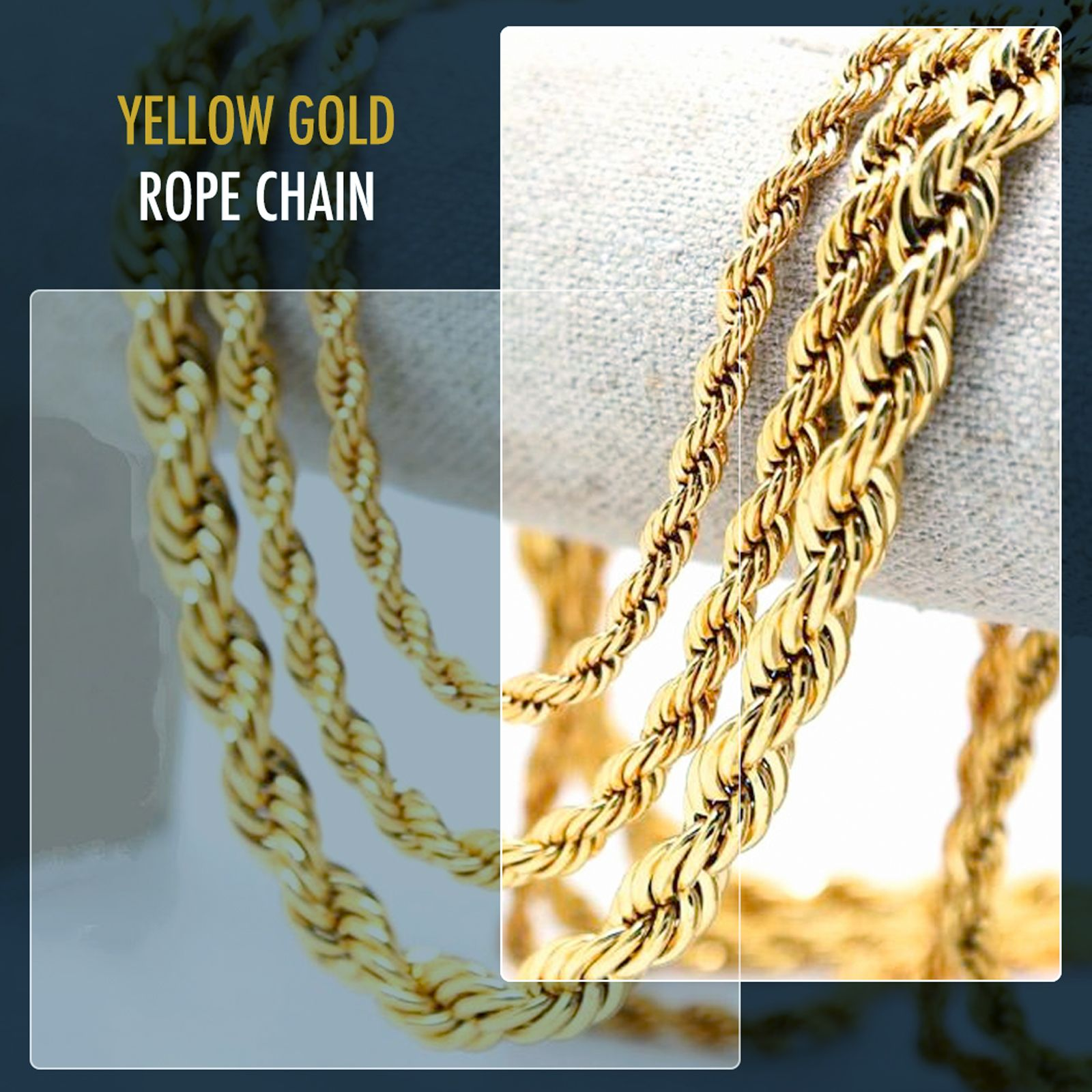 10k Yellow Gold 8mm Hollow Rope Chain Necklace Mens Rope Chain Mens Chain Necklace Gold Rope Chains