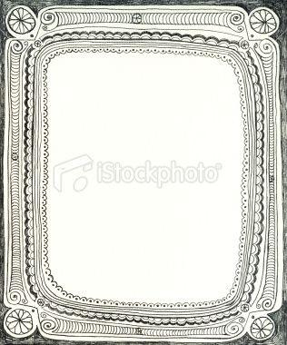 Pretty pencil frame Royalty Free Stock Vector Art Illustration