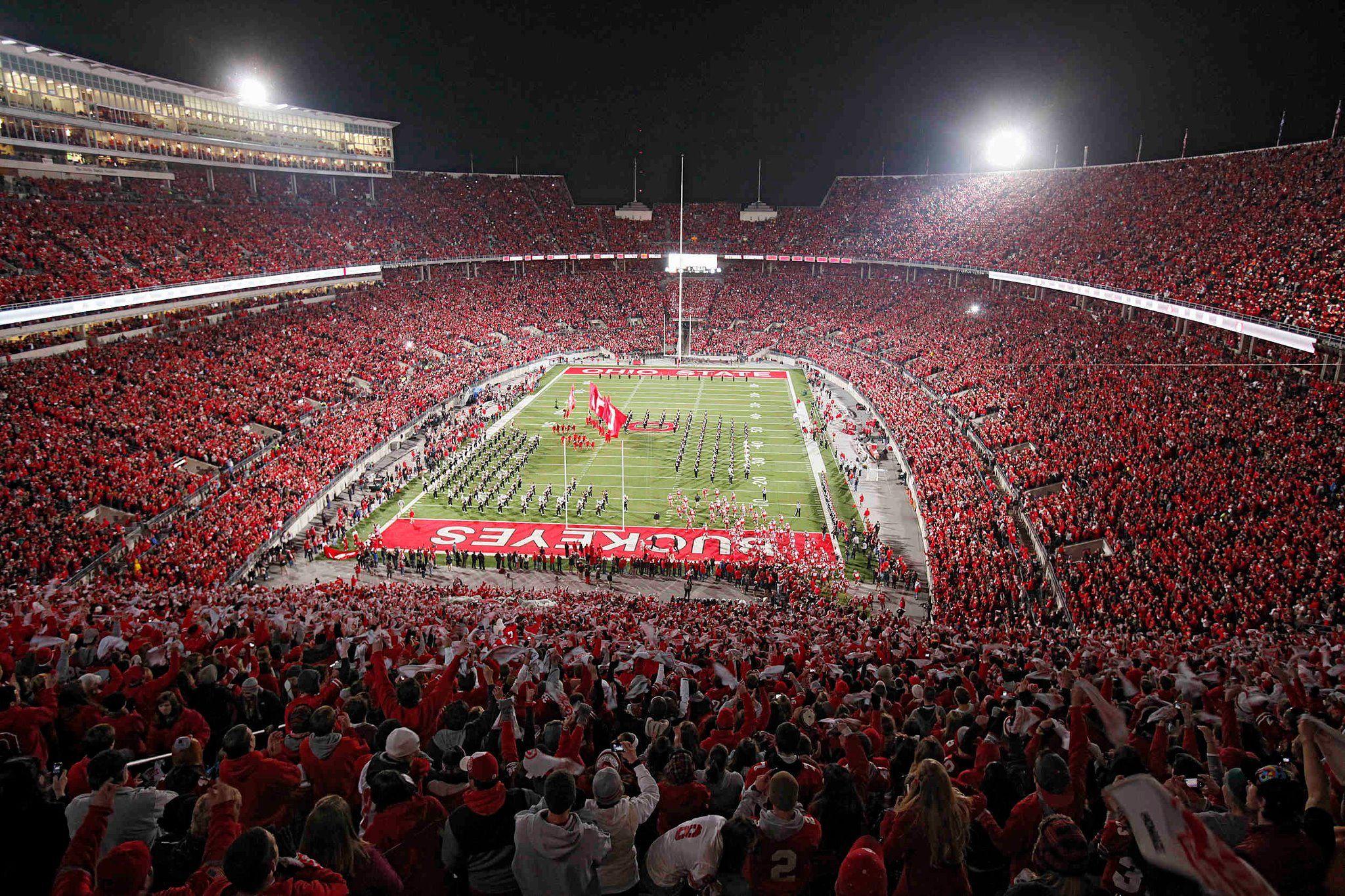 Osu Football Field Ohio State Pictures Ohio Buckeyes Ohio State