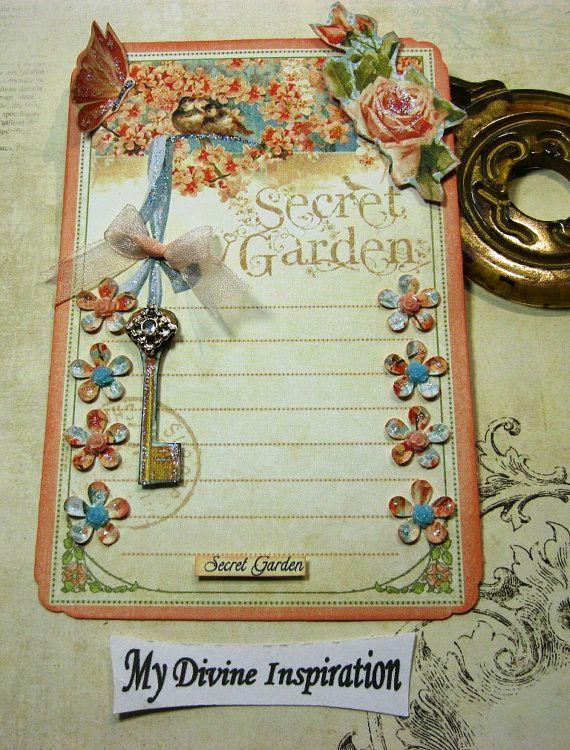 Graphic 45 Secret Garden Handmade Scrapbook by mydivineinspiration