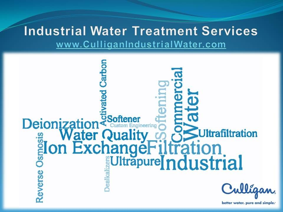 Culligan Industrial Water Word Cloud Water Treatment Water Quality Word Cloud