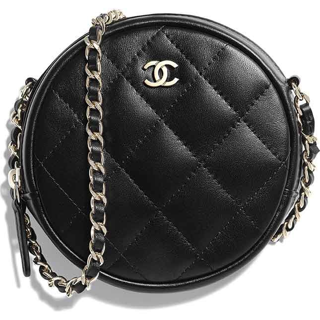 7875035ca721 Chanel Round Classic Chain Clutch | Bragmybag Chanel Clutch, Round Bag, Evening  Bags,