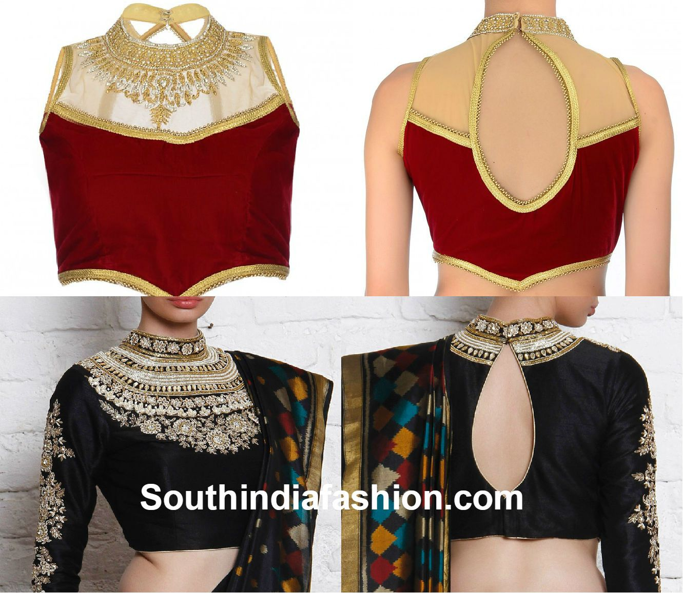 Blouse designs saree blouse back designs blouses neck designs 30 jpg - Blouse Neck Designs