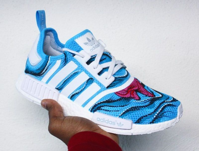 pretty nice b048a 6605f adidas NMD R1 Aqua Drip Customs