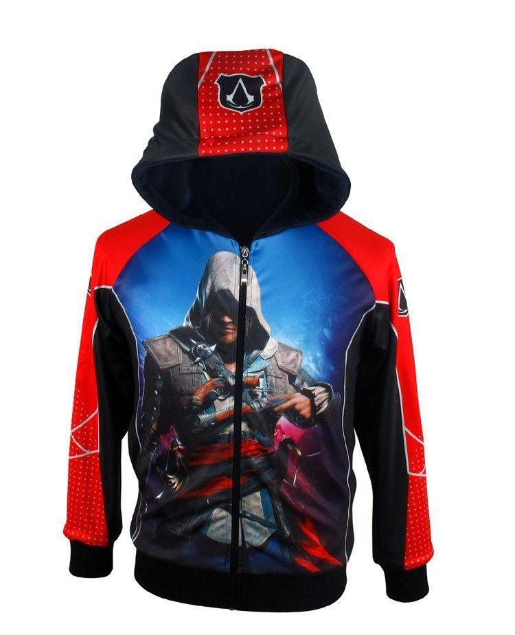 Assassins Creed DESMOND Hoodie Men Jacket Sweatshirt