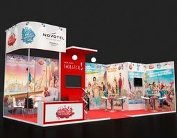 Exhibition Booth Obj : Model available for download in .max .3ds .fbx .obj .stl formats