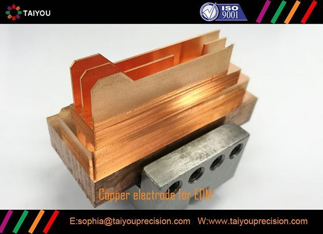 EDM Copper electrode for EDM machining of plastic mold components