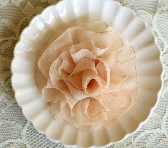 Miss Betty - Peach Flower Hair Clip and Brooch