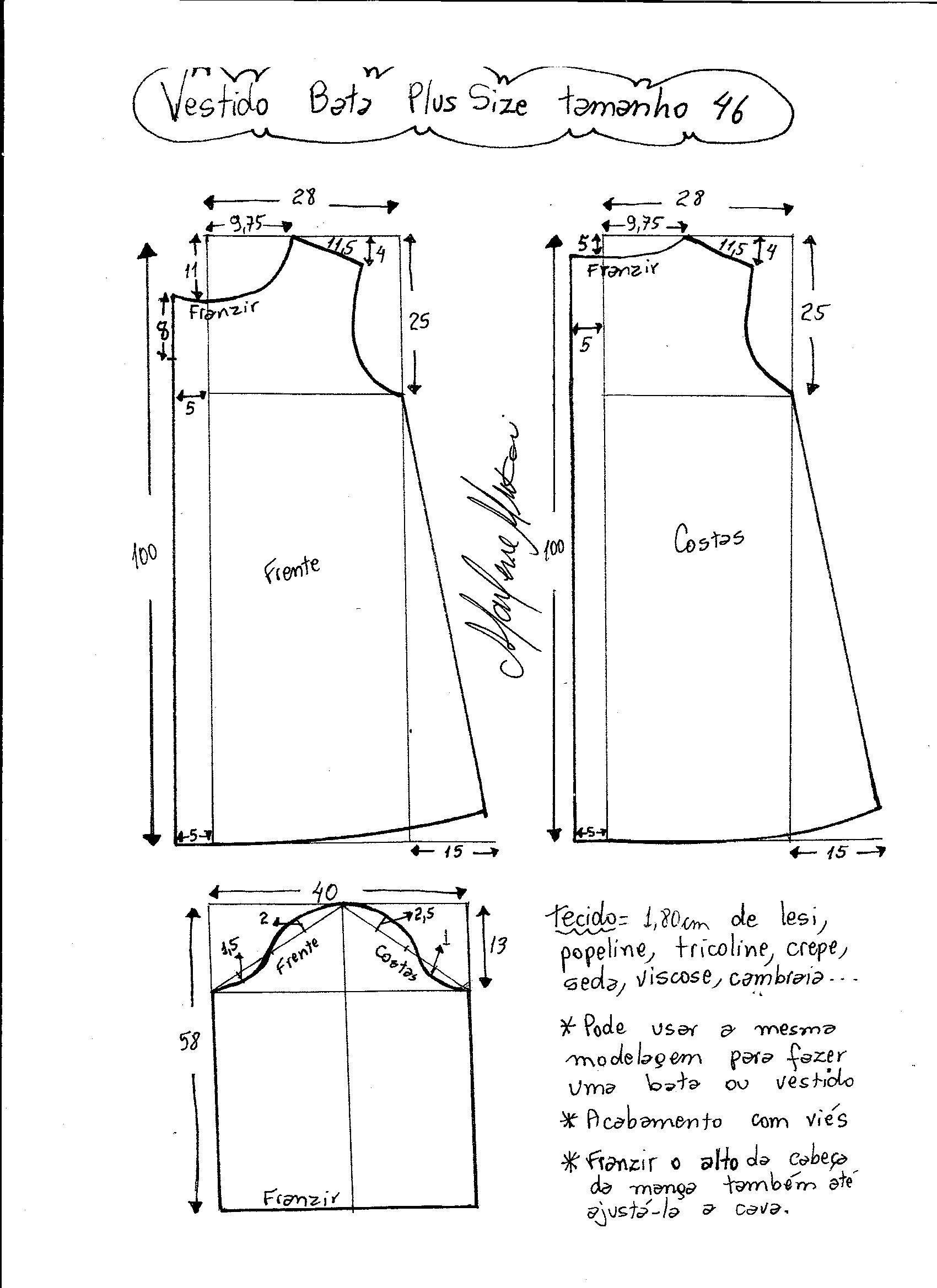 Pin de Reyna Lara en Patrones | Pinterest | Costura, Moldes y Vestidos