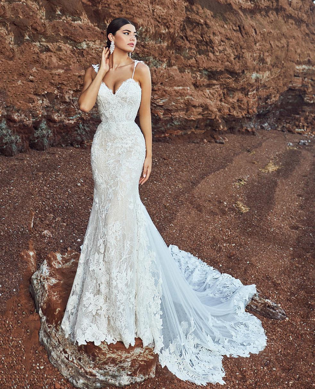 Lace Mermaid Wedding Dress Mermaid Style Wedding Dress Bridal Reflections Wedding Dresses [ 1214 x 982 Pixel ]
