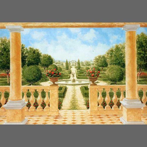 Giardino All Italiana Trompe L Oeil Mural Wallpaper 8 Part 106 Garden And Floral Mural Wallpaper Mural Mural Art