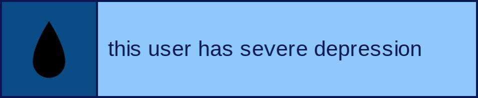 This user has severe depression.