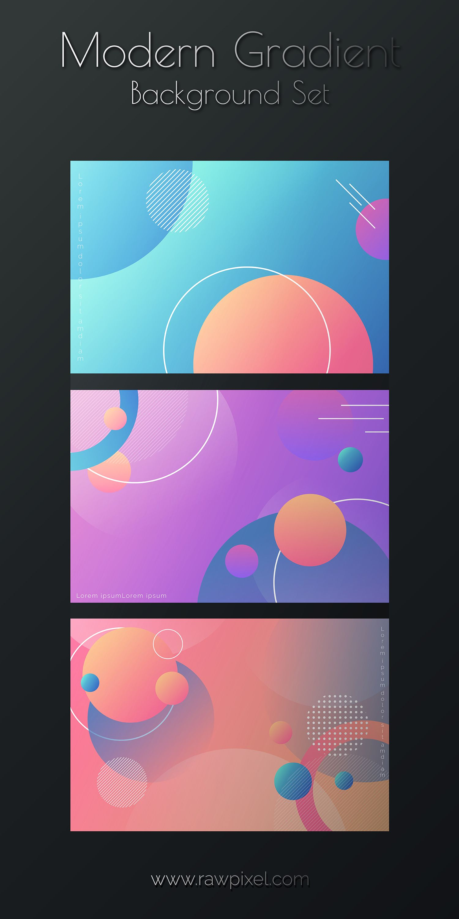 Modern Gradient Background Set In 2020 Art Poster Design Creative Banners Web Design Resources