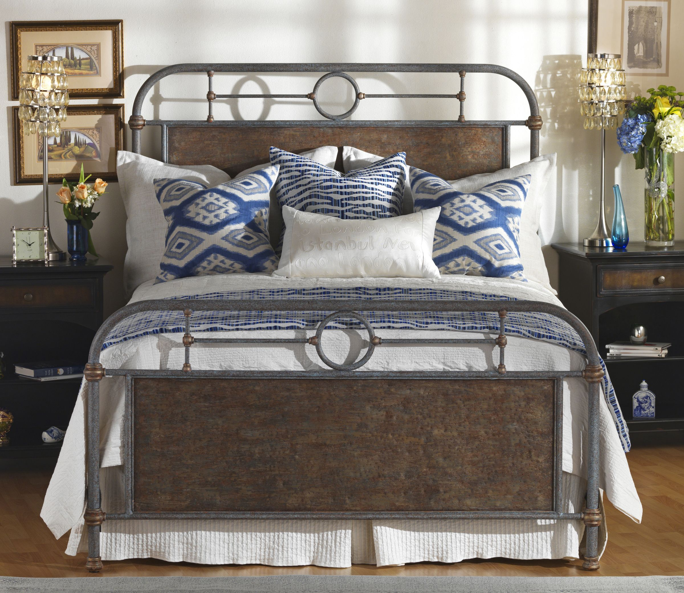 Danville Wesley Allen beds are iron and hand