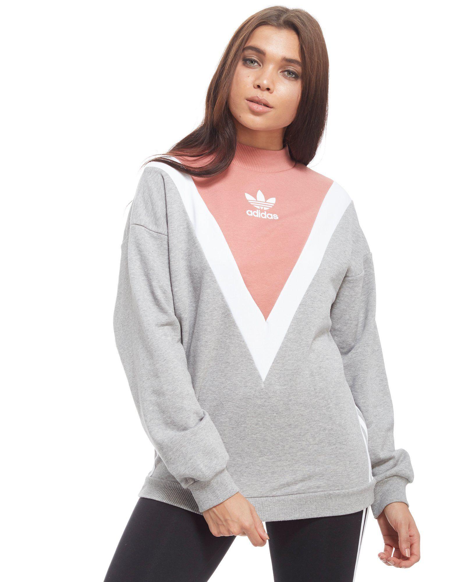 Adidas Originals Gray Chevron Sweatshirt