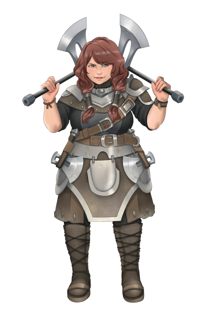 Female Dwarf Ranger Twin Axes - Pathfinder PFRPG DND D&D 3.5 5E 5th ed d20 fantasy (With images ...