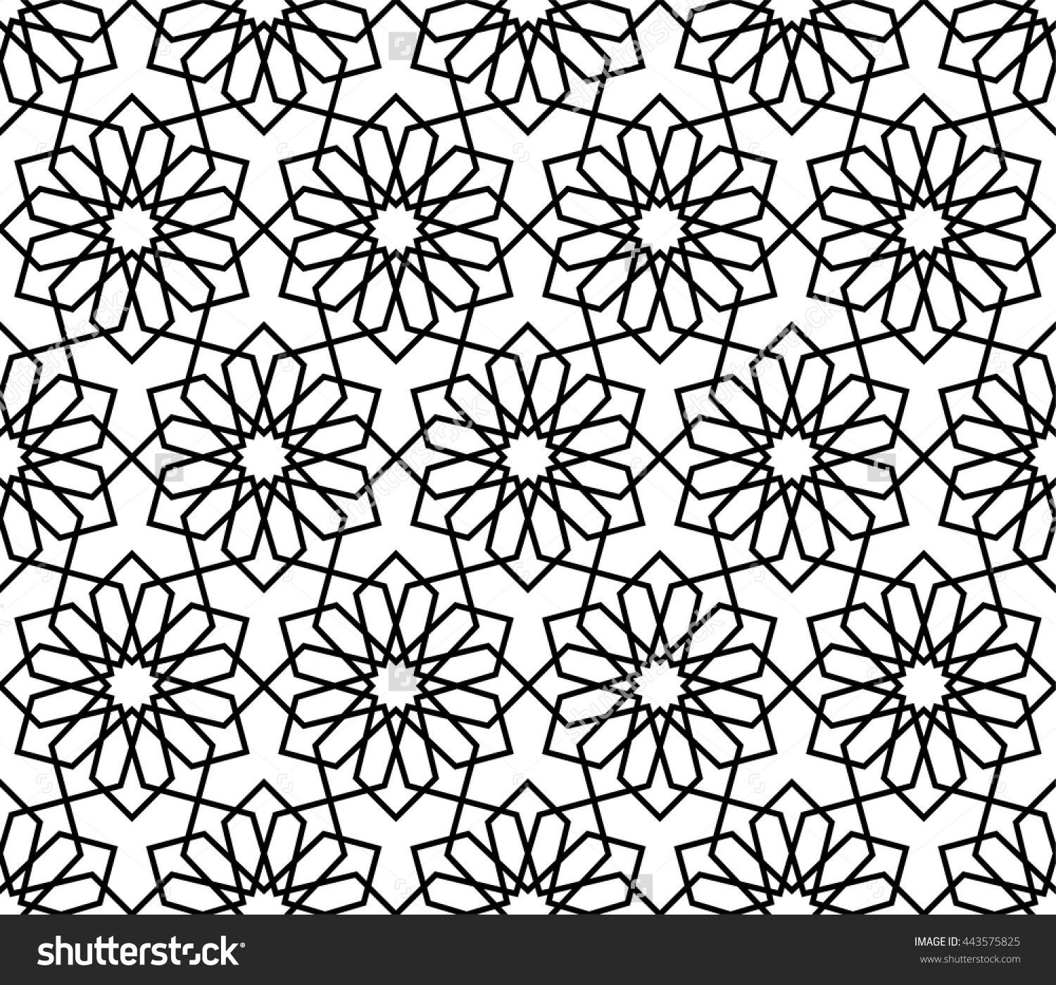 Stock Vector Islamic Pattern Abstract Geometric Pattern Vector