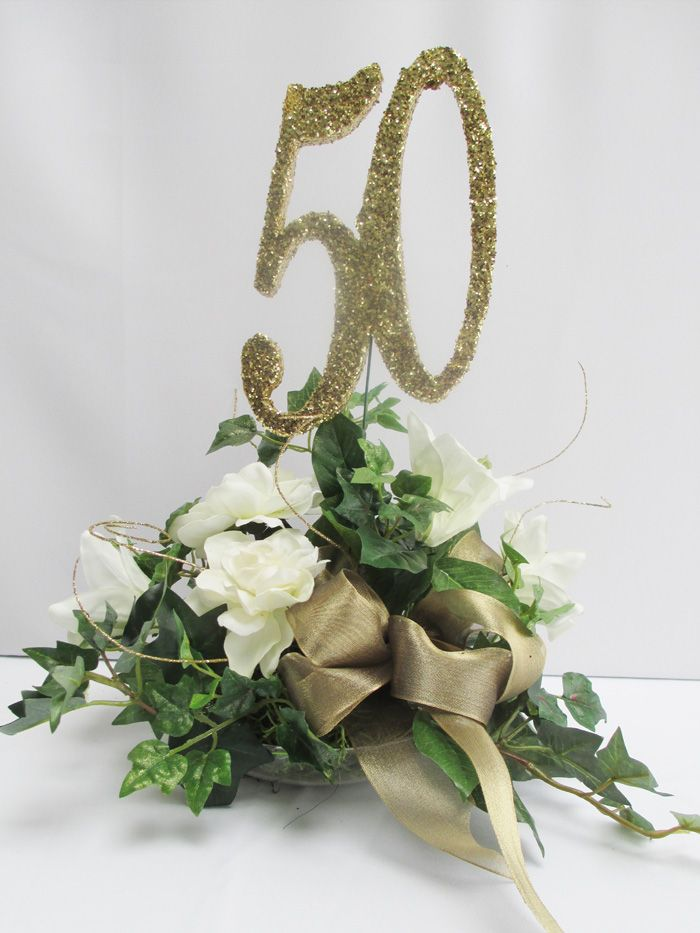 50th Anniversary Artificial Fl Arrangements Anniversay Centerpiece Special Www Designsbyginny Blog