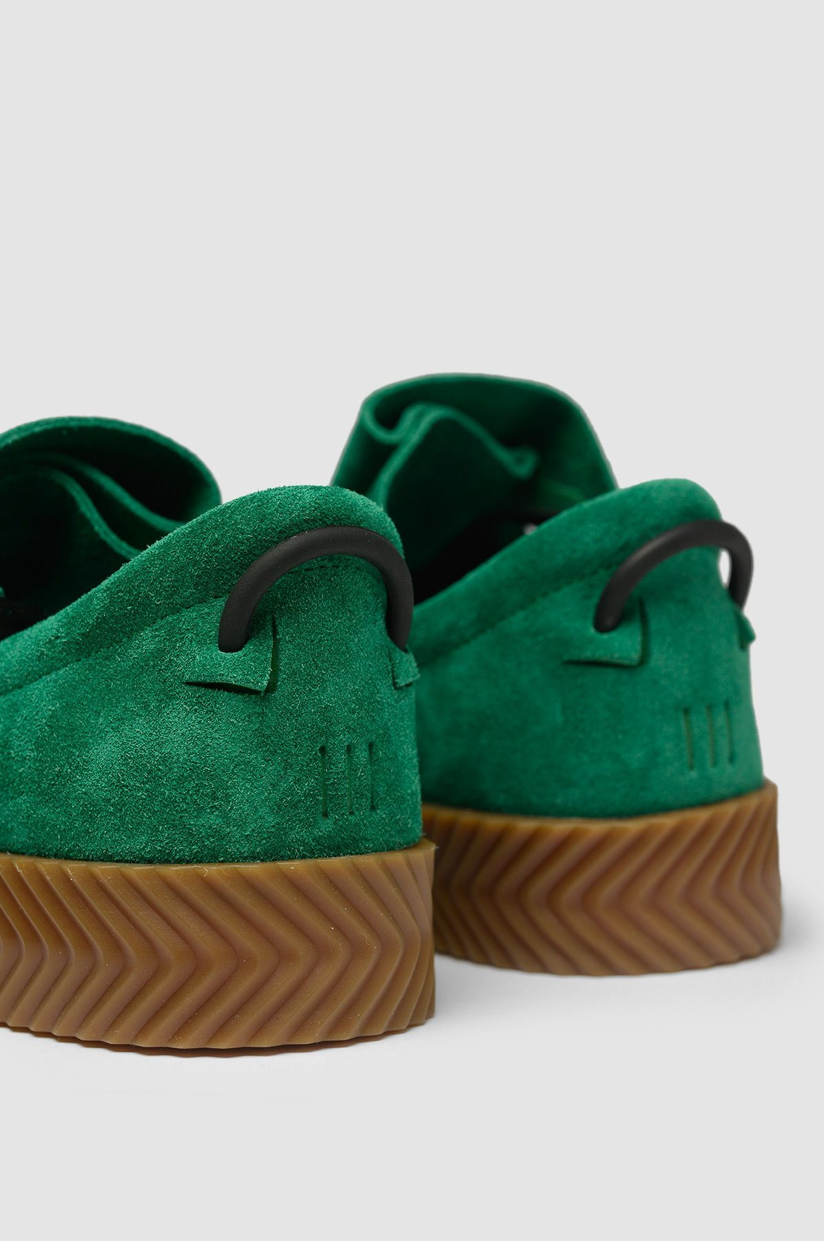 fd2a268b1ab6c1 ADIDAS X ALEXANDER WANG Skate Green Sneakers. Emerald green suede upper  sneakers with rubber sole.