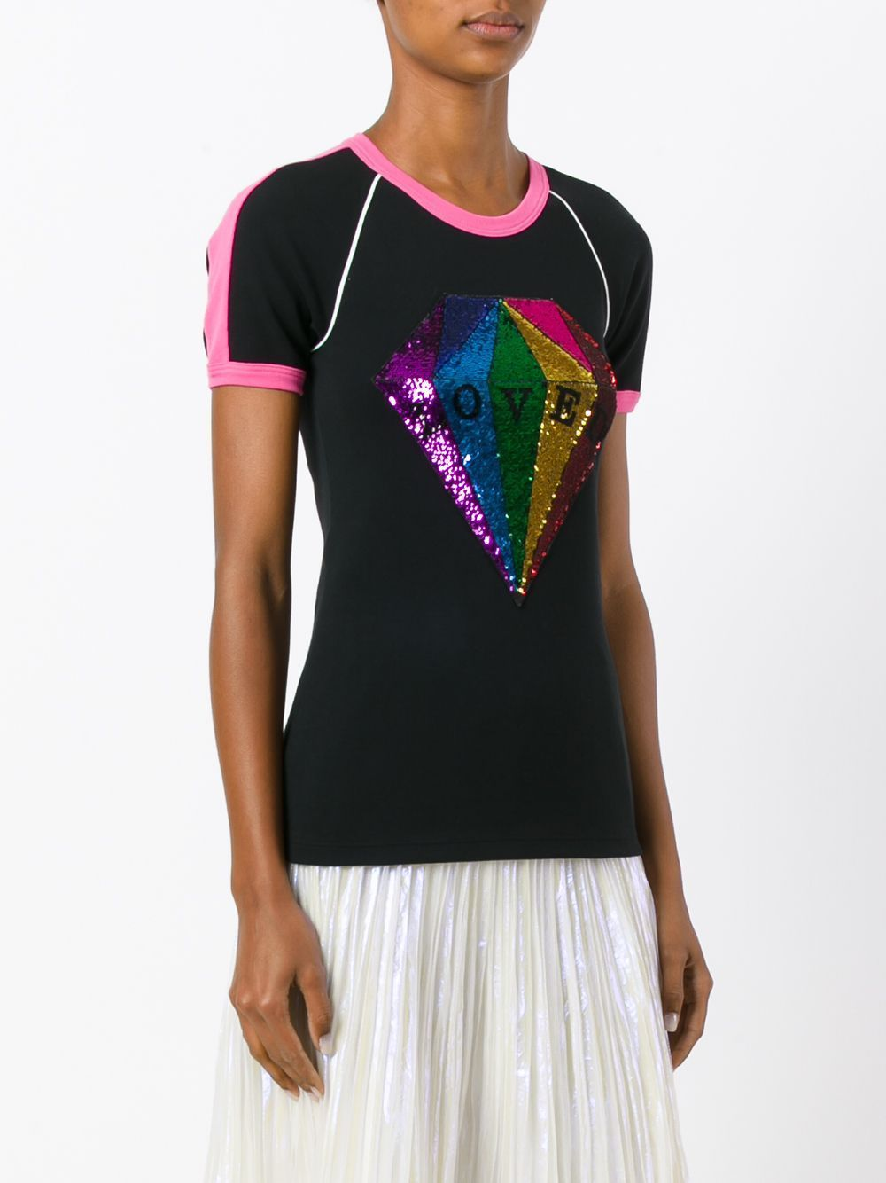 f28998b58 GUCCI LOVED SEQUIN DIAMOND COTTON T-SHIRT   How To Look Amazing In ...