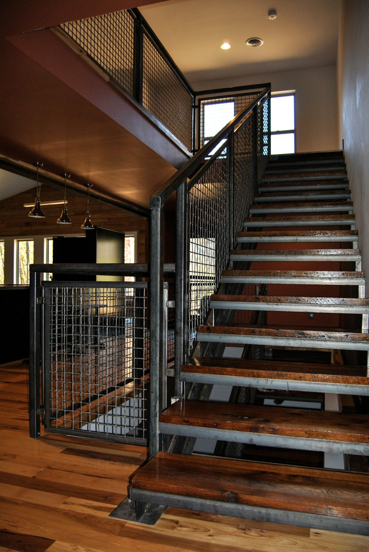 Nice rustic industrial staircase   Rustic staircase ...