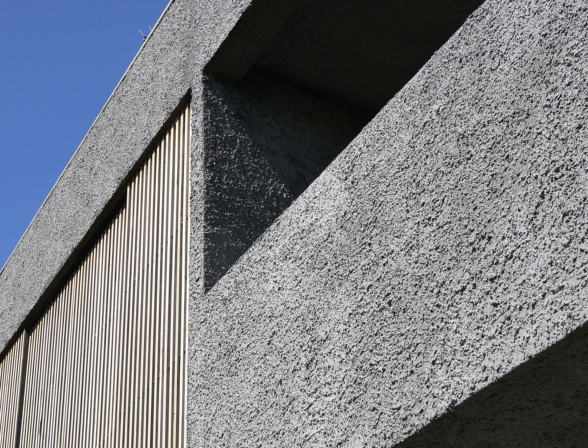 Muted Rough Wall Exterior Concrete Facade Modern Exterior