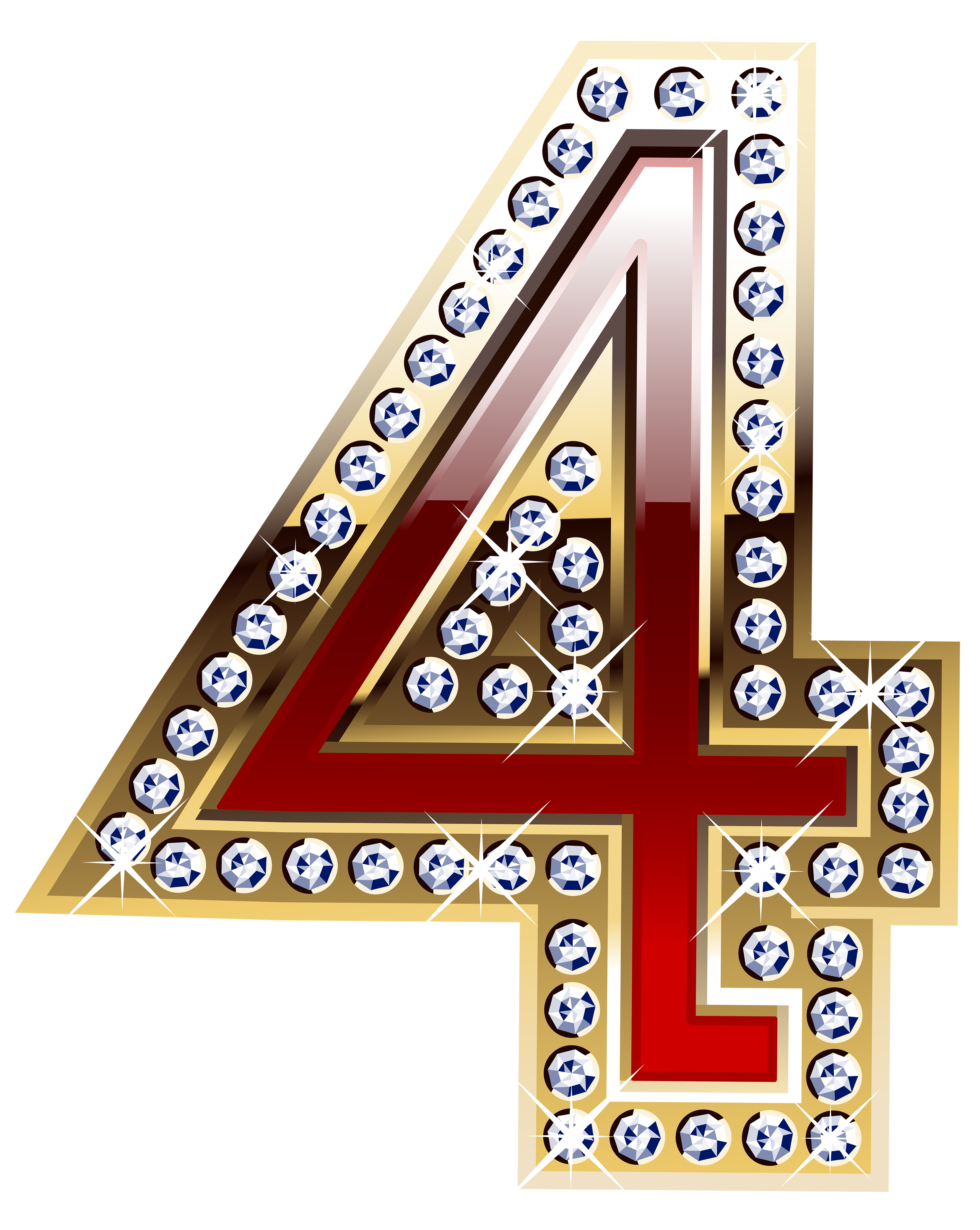 Gold And Red Number Four Png Clipart Image Gallery Yopriceville High Quality Images And Transparent Png Free Clipa Clip Art Free Clip Art Scrapbook Images