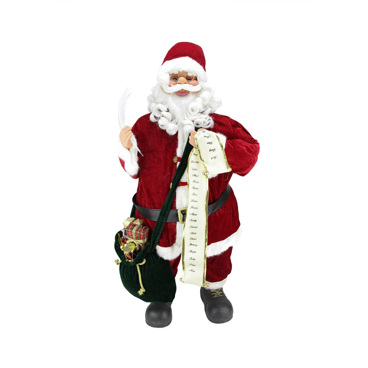 Musical Standing Santa Claus Christmas Figure with Nice List