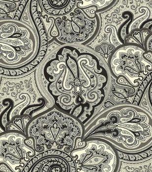Waverly Upholstery Fabric-Paddock Shawl Onyx