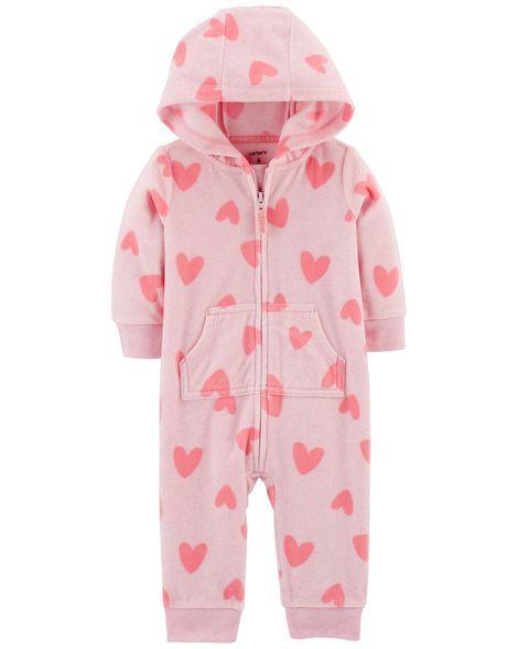ecb9239987 Heart Fleece Hooded Jumpsuit. Heart Fleece Hooded Jumpsuit Heart Print