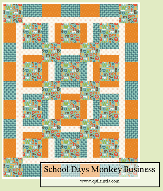 School Days Monkey Business Quilt Kit | Baby and Kid Quilts ... : monkey business quilt pattern - Adamdwight.com
