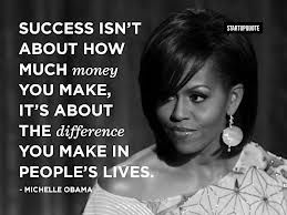 It's about the difference you make in people's lives.